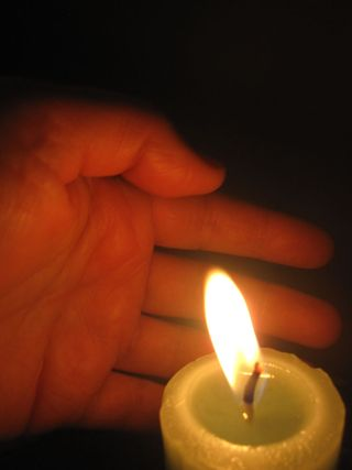 Hand and Flame